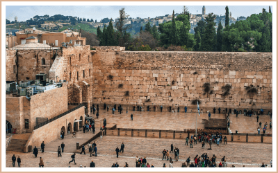 The west wall of jerusalem